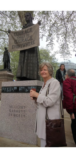 Trudy with Millicent Fawcett