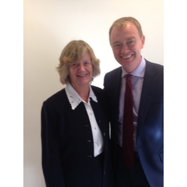 Trudy Dean meets with Tim Farron