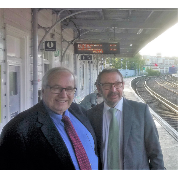 Ian and Rob at Maidstone East Station